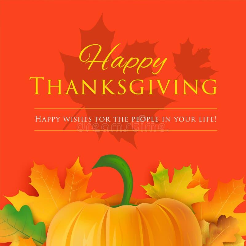 Ευτυχής ευχετήρια κάρτα ημέρας των ευχαριστιών χρυσό διάνυσμα διακοπών χαιρετισμού λουλουδιών καρτών ανασκόπησης διανυσματική απεικόνιση
