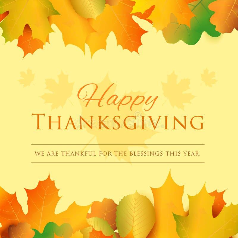 Ευτυχής ευχετήρια κάρτα ημέρας των ευχαριστιών χρυσό διάνυσμα διακοπών χαιρετισμού λουλουδιών καρτών ανασκόπησης ελεύθερη απεικόνιση δικαιώματος