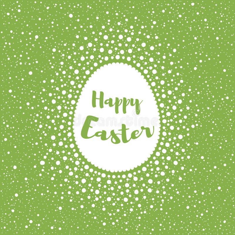 Ευτυχής ευχετήρια κάρτα Πάσχας, μορφή αυγών και σημεία, παφλασμός, specks ελεύθερη απεικόνιση δικαιώματος