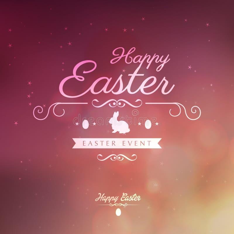 Ευτυχής ευχετήρια κάρτα Πάσχας απεικόνιση αποθεμάτων