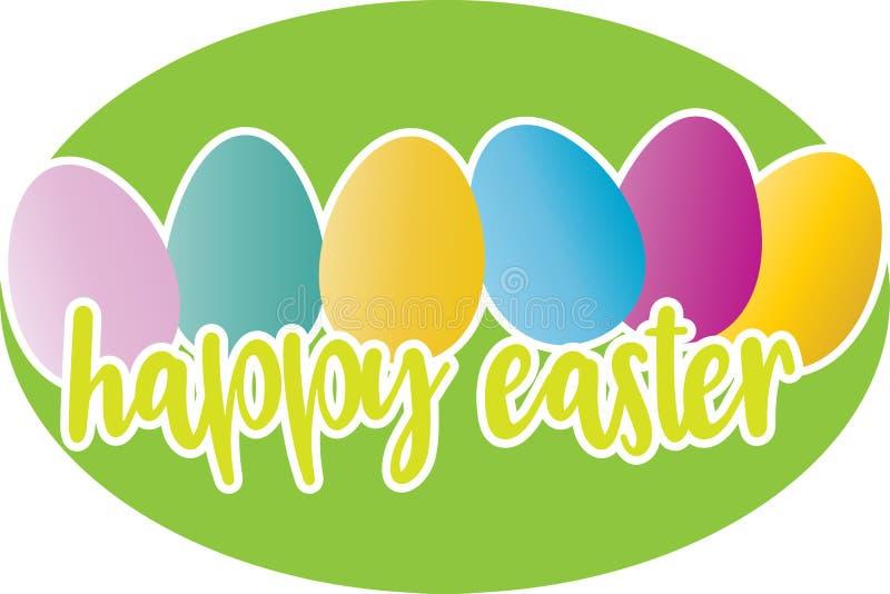 Ευτυχής ευχετήρια κάρτα Πάσχας διανυσματική απεικόνιση