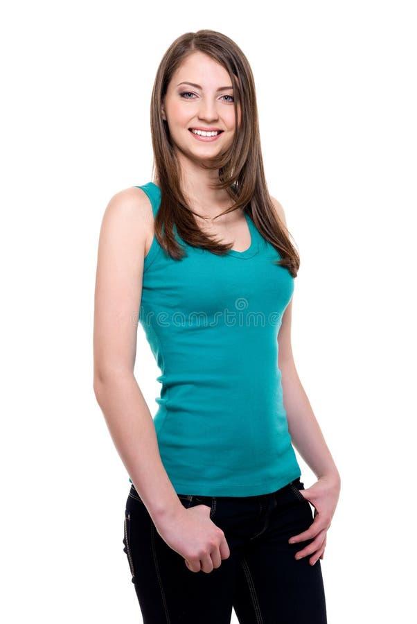 Ευτυχής εύθυμη γυναίκα στοκ εικόνες με δικαίωμα ελεύθερης χρήσης