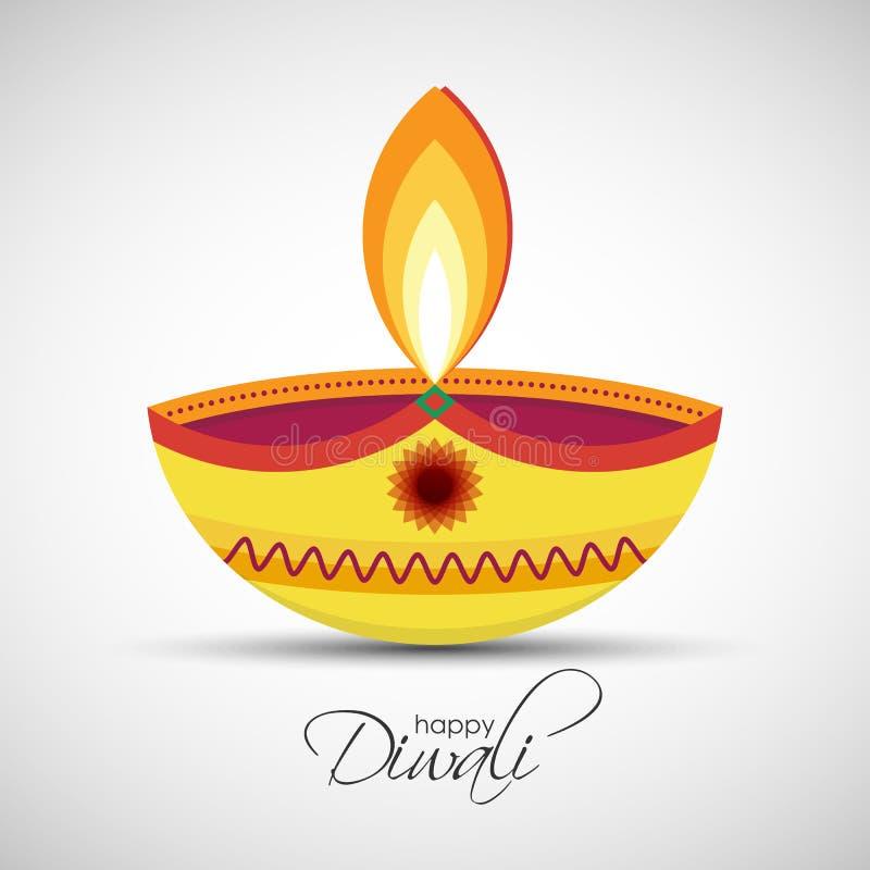 Ευτυχής ελαιολυχνία Diwali Diya ελεύθερη απεικόνιση δικαιώματος