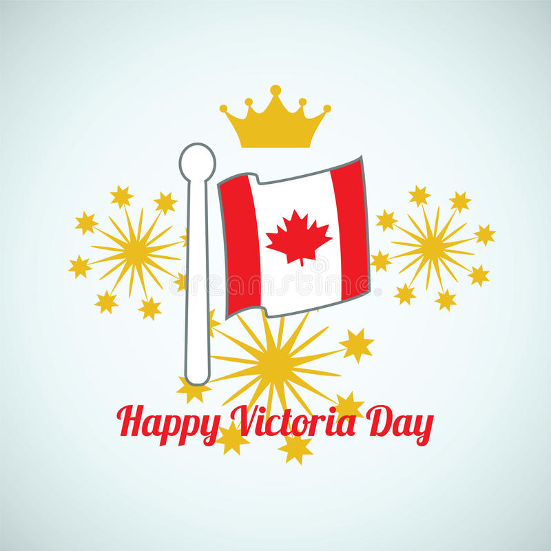 Ευτυχής ημέρα Βικτώριας Καναδάς διανυσματική απεικόνιση