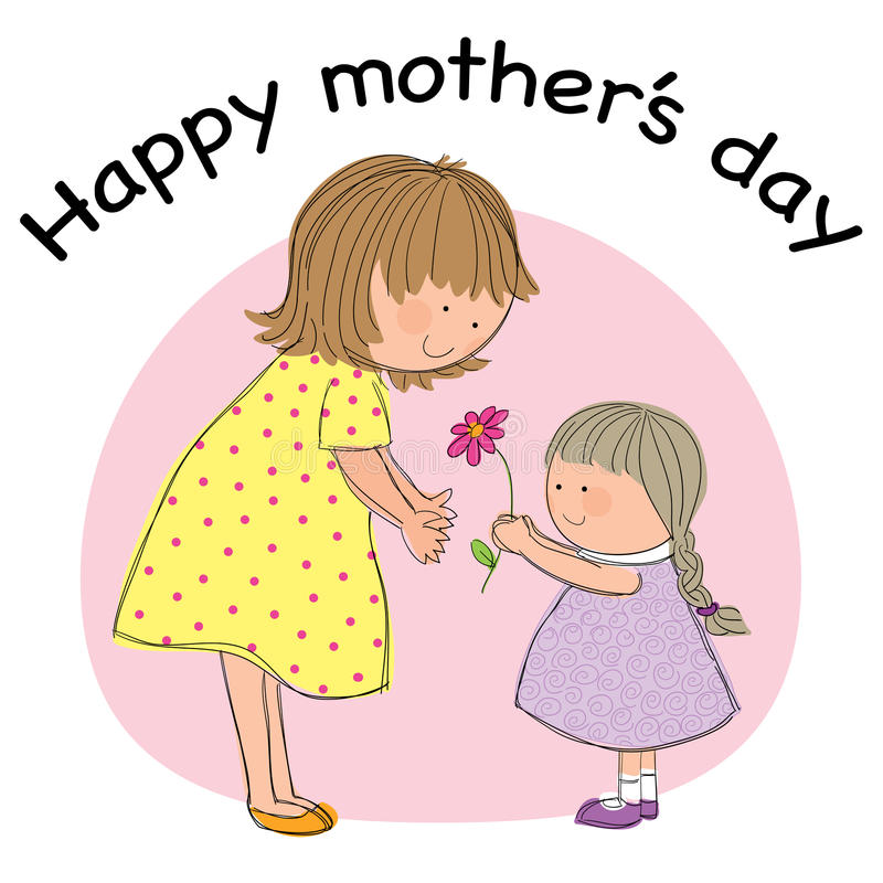 Ευτυχής ημέρα μητέρων ελεύθερη απεικόνιση δικαιώματος