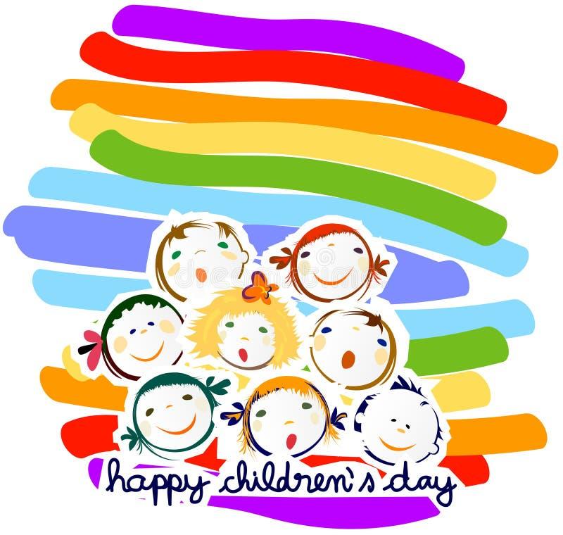 Ευτυχής ημέρα παιδιών διανυσματική απεικόνιση