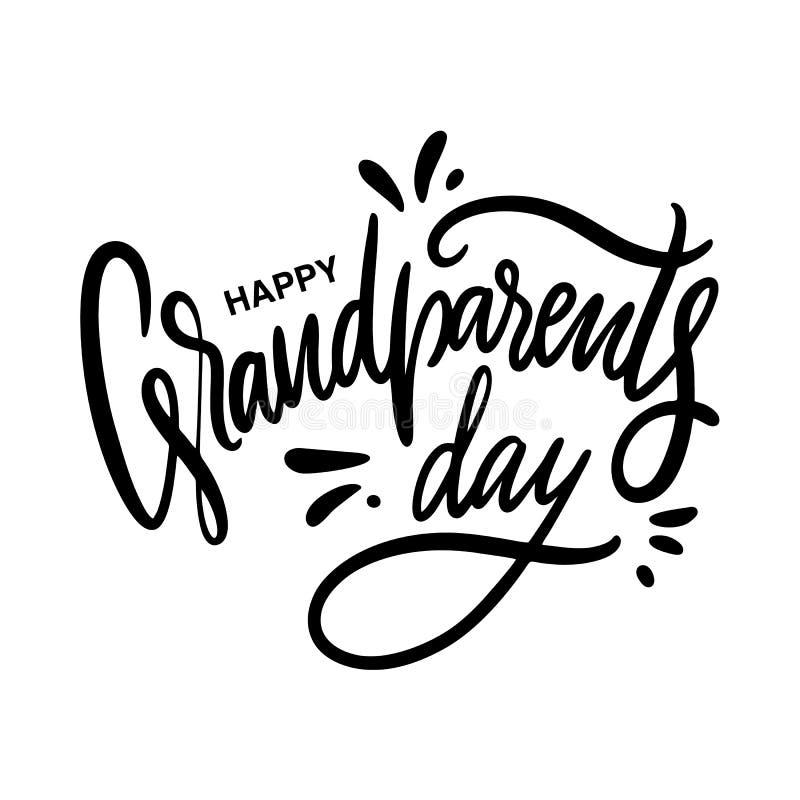 Ευτυχής ημέρα παππούδων και γιαγιάδων E o ελεύθερη απεικόνιση δικαιώματος