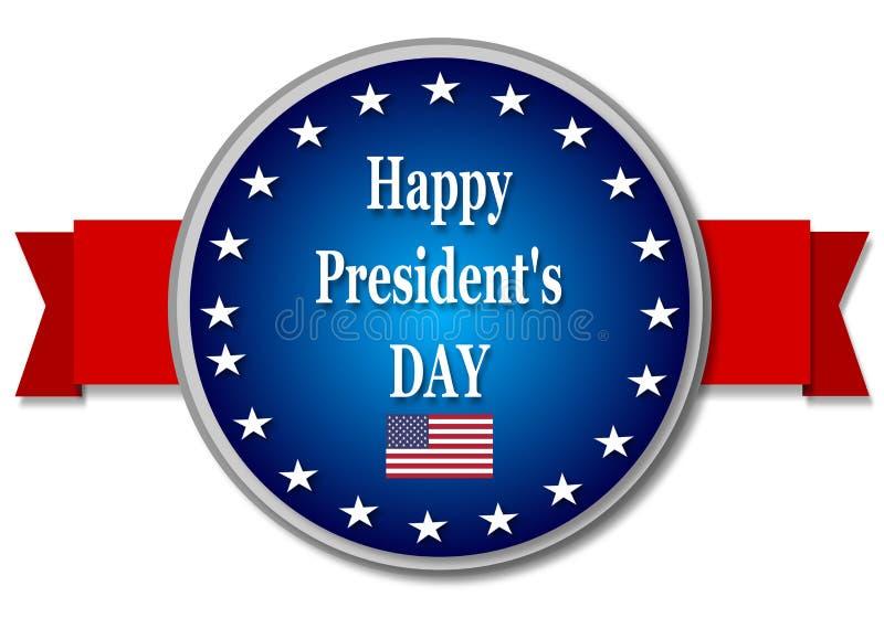 Ευτυχής ημέρα Προέδρων ελεύθερη απεικόνιση δικαιώματος