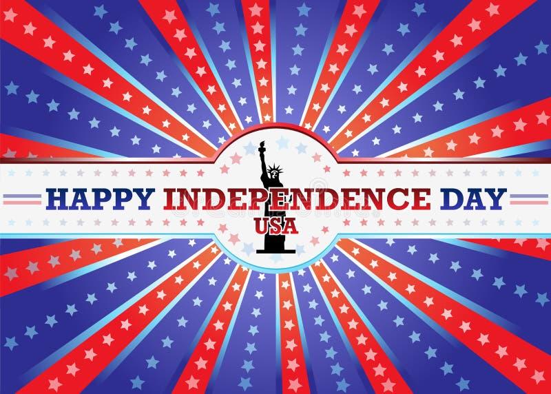 Ευτυχής ημέρα της ανεξαρτησίας στοκ εικόνα με δικαίωμα ελεύθερης χρήσης