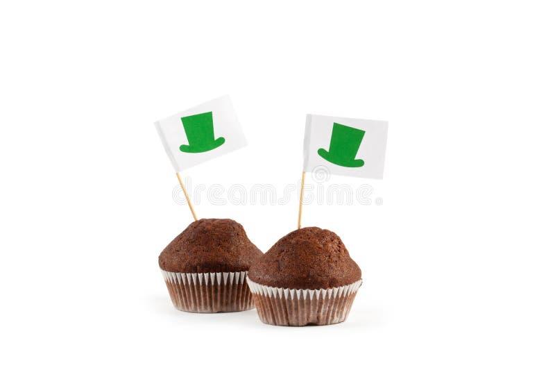 Ευτυχής ημέρα του ST Patricks κέικ νεράιδων στοκ εικόνα με δικαίωμα ελεύθερης χρήσης