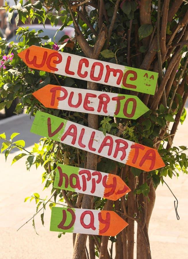 Ευτυχής ημέρα Puerto Vallarta στοκ εικόνες