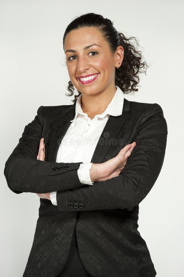 Ευτυχής θηλυκός φοιτητής Νομικής στοκ φωτογραφία