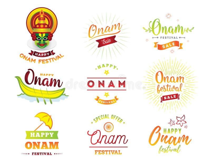Ευτυχής διανυσματική απεικόνιση φεστιβάλ onam ελεύθερη απεικόνιση δικαιώματος