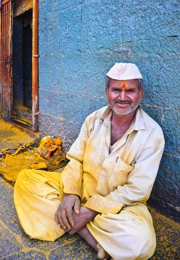 ευτυχής ινδικός χωρικός στοκ εικόνα με δικαίωμα ελεύθερης χρήσης