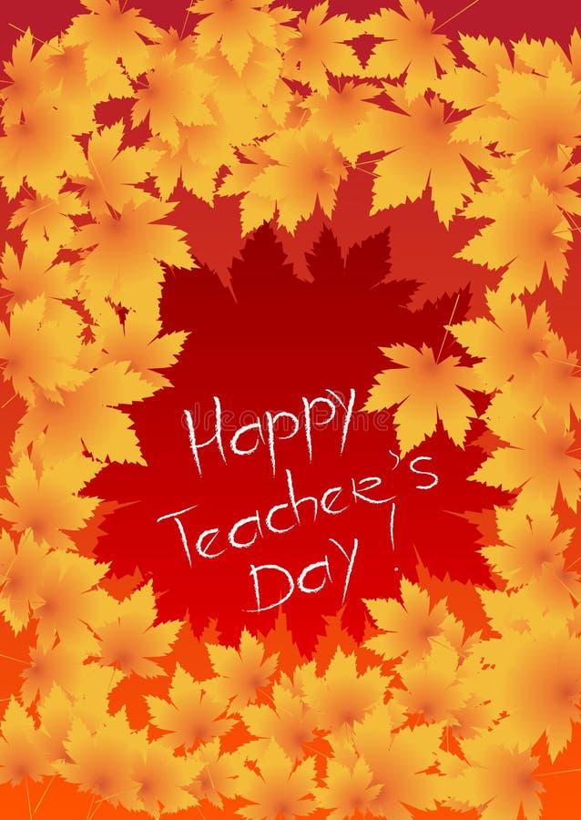 Ευτυχής κάρτα ημέρας δασκάλων στοκ εικόνες
