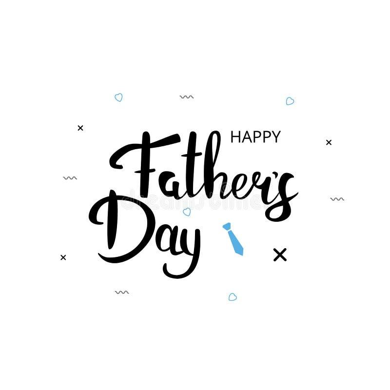 Ευτυχής κάρτα ημέρας πατέρων ` s επίσης corel σύρετε το διάνυσμα απεικόνισης απεικόνιση αποθεμάτων