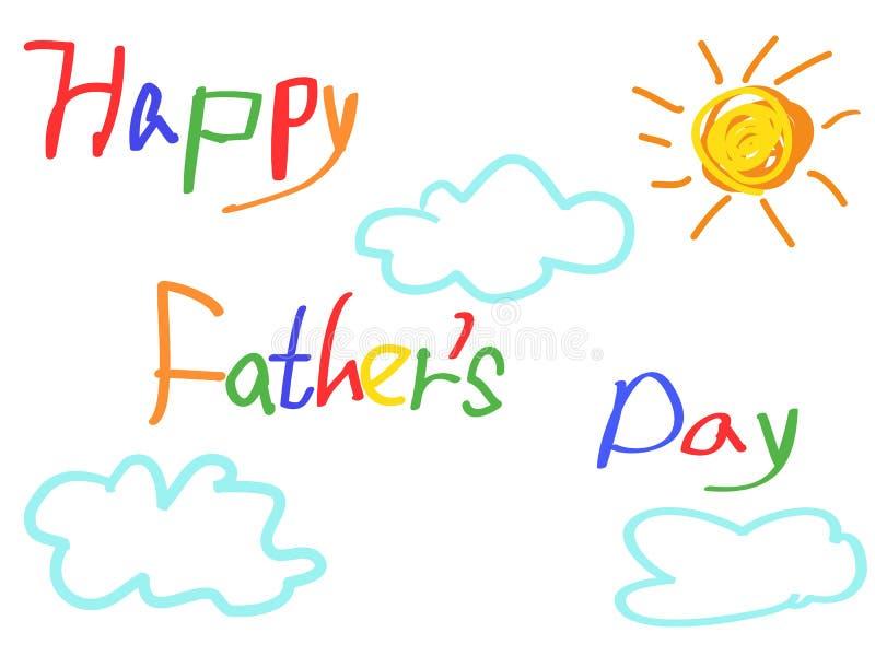 Ευτυχής κάρτα ημέρας πατέρων ` s απεικόνιση αποθεμάτων