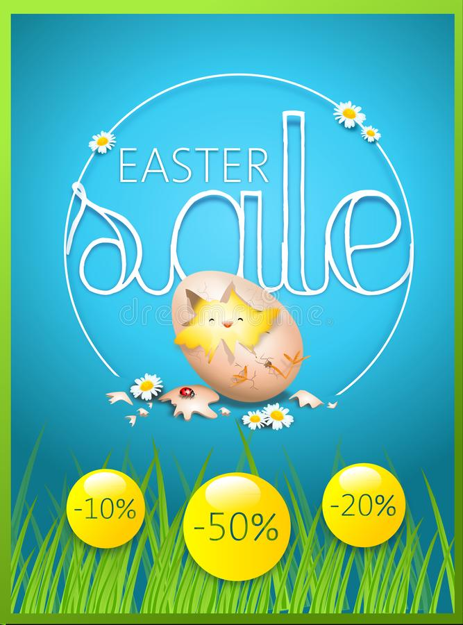 Ευτυχής κάρτα πώλησης Πάσχας ελεύθερη απεικόνιση δικαιώματος