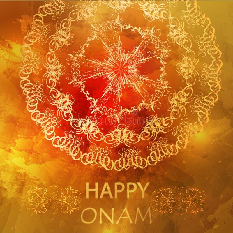 Ευτυχής κάρτα Onam απεικόνιση αποθεμάτων