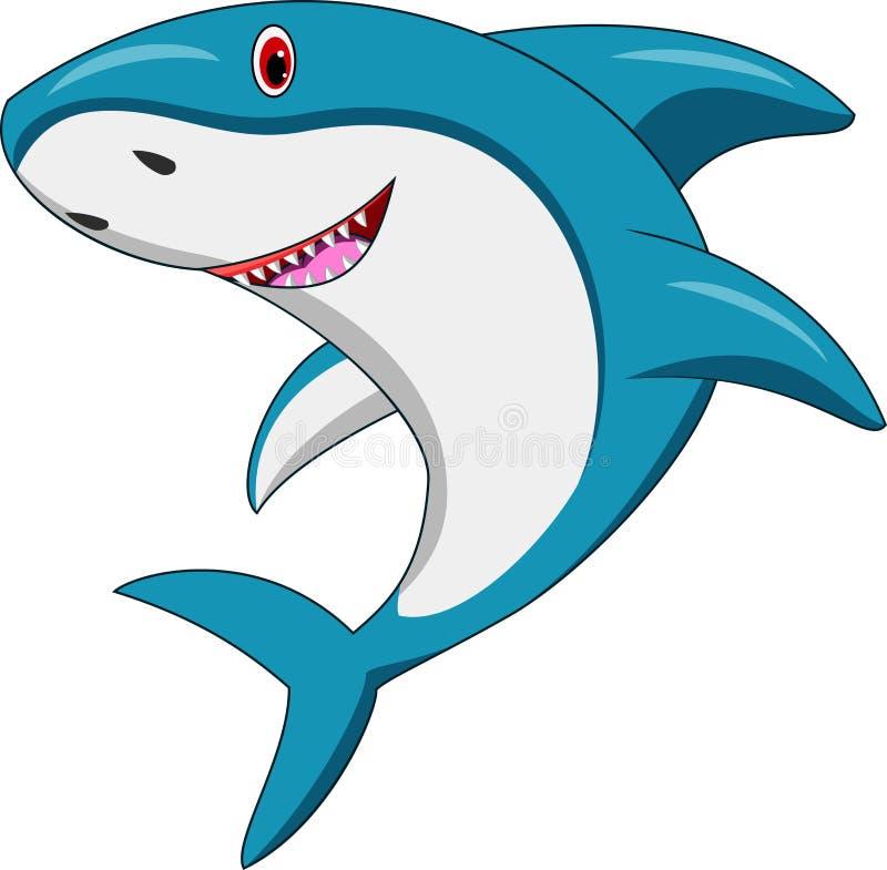 ευτυχής καρχαρίας κινούμενων σχεδίων απεικόνιση αποθεμάτων