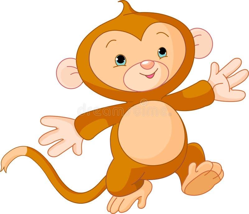 ευτυχής λίγος πίθηκος ελεύθερη απεικόνιση δικαιώματος