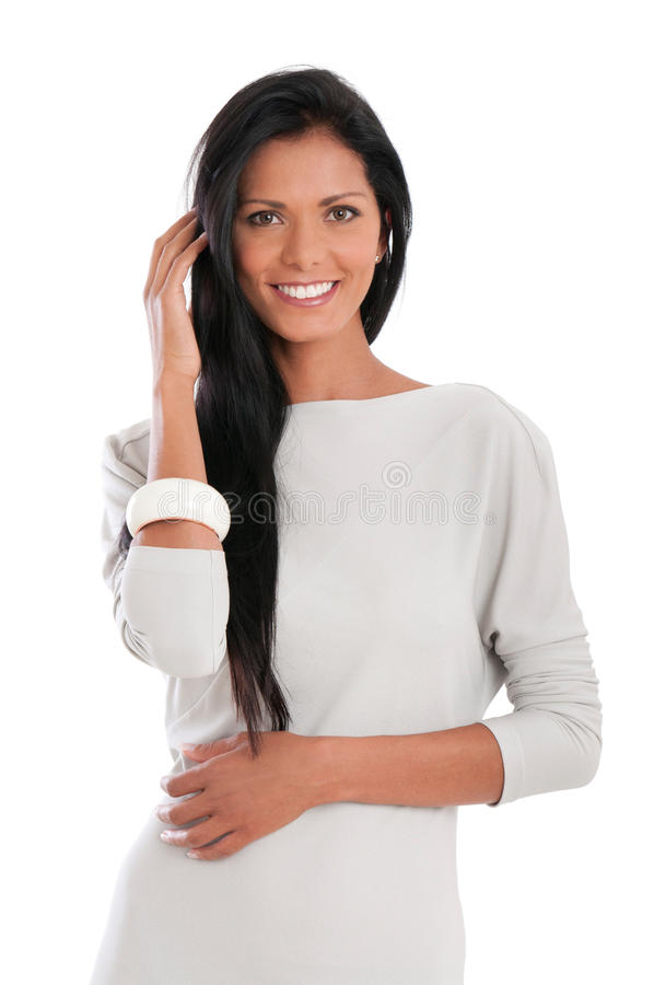 Ευτυχής λατινική γυναίκα στοκ φωτογραφία με δικαίωμα ελεύθερης χρήσης