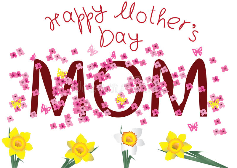 ευτυχής μητέρα s ημέρας καρ&ta ελεύθερη απεικόνιση δικαιώματος