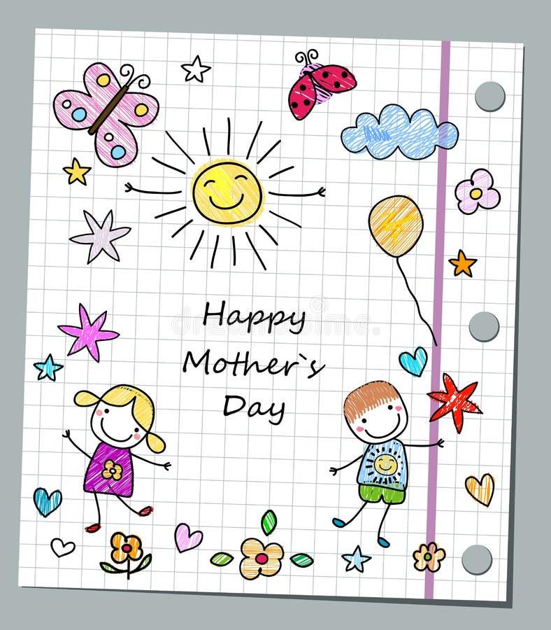 ευτυχής μητέρα s ημέρας απεικόνιση αποθεμάτων
