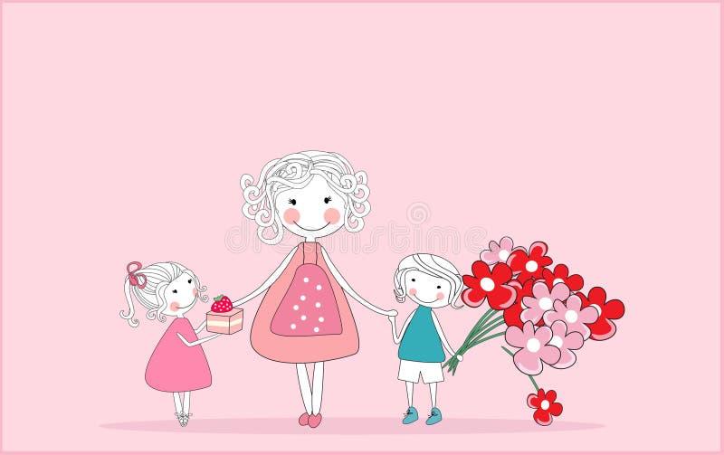 ευτυχής μητέρα s ημέρας ελεύθερη απεικόνιση δικαιώματος