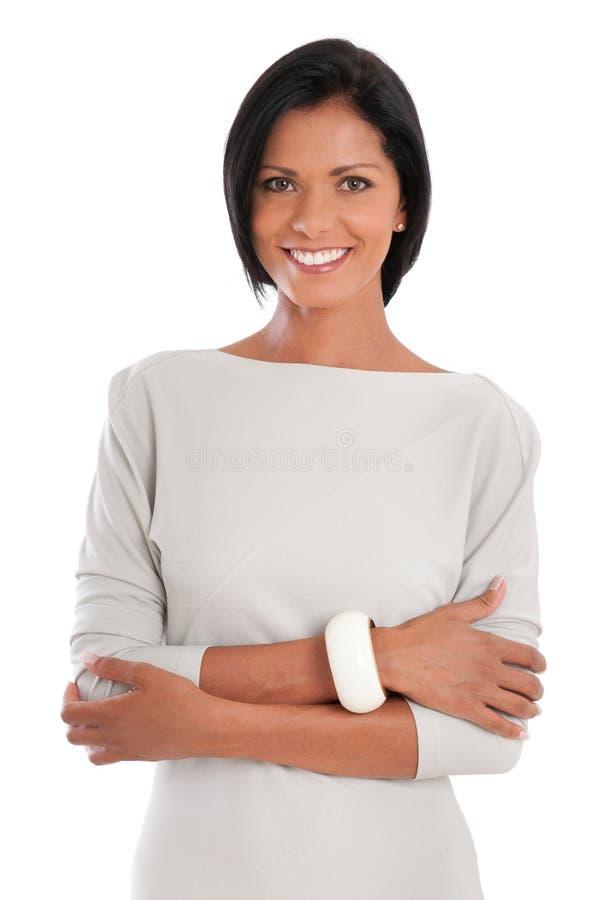 Ευτυχής μοντέρνη γυναίκα στοκ φωτογραφία με δικαίωμα ελεύθερης χρήσης