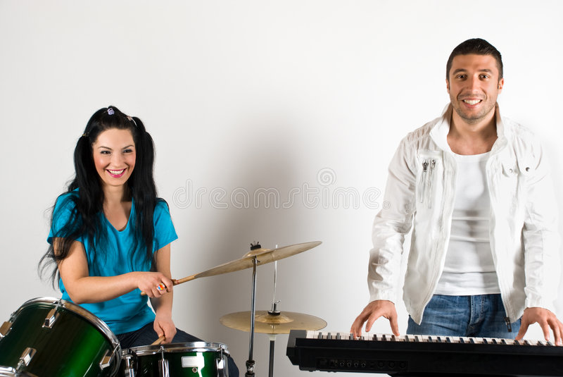 ευτυχής μουσικός ζωνών στοκ φωτογραφίες με δικαίωμα ελεύθερης χρήσης