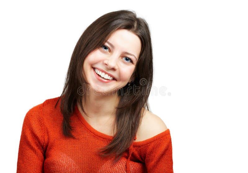 Ευτυχής νέα γυναίκα στοκ φωτογραφίες