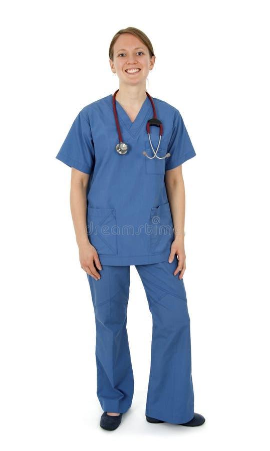 Ευτυχής νέα νοσοκόμα στοκ φωτογραφίες