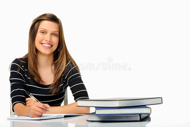 Ευτυχής νέος σπουδαστής στοκ φωτογραφία