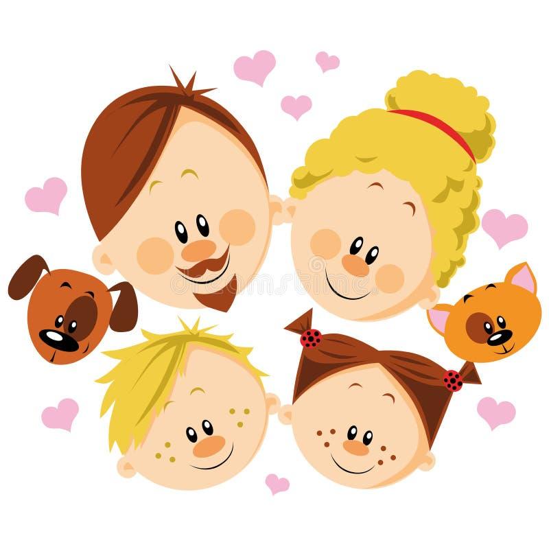 Ευτυχής οικογένεια ελεύθερη απεικόνιση δικαιώματος