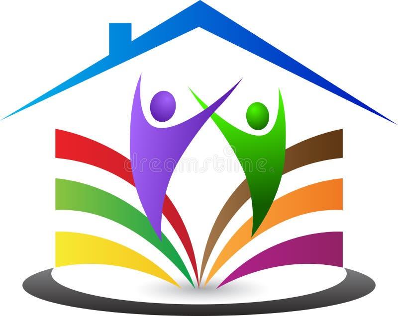 Ευτυχής οικογενειακή κατοικία ελεύθερη απεικόνιση δικαιώματος