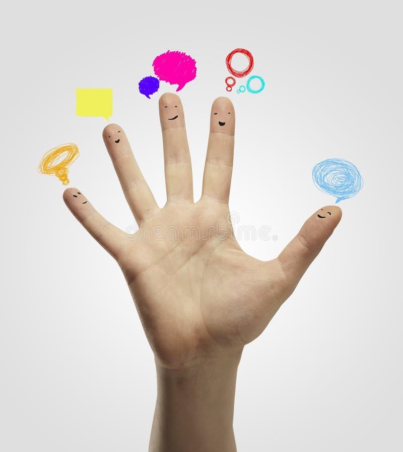 Ευτυχής ομάδα δάχτυλου smileys στοκ φωτογραφία με δικαίωμα ελεύθερης χρήσης