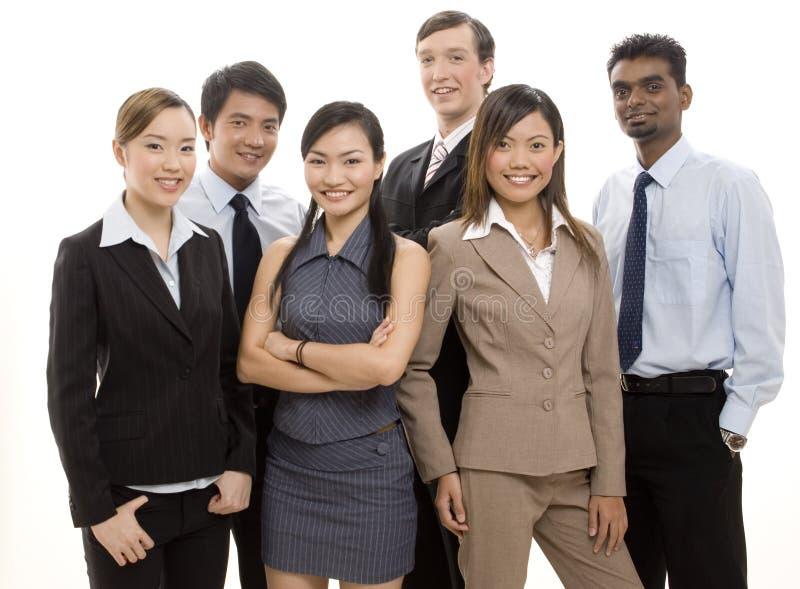 ευτυχής ομάδα 2 επιχειρήσεων στοκ φωτογραφίες