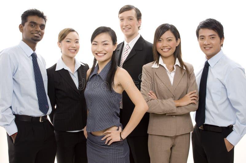 ευτυχής ομάδα 3 επιχειρήσεων στοκ εικόνες