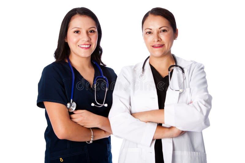 Ευτυχής ομάδα νοσοκόμων γιατρών στοκ φωτογραφίες