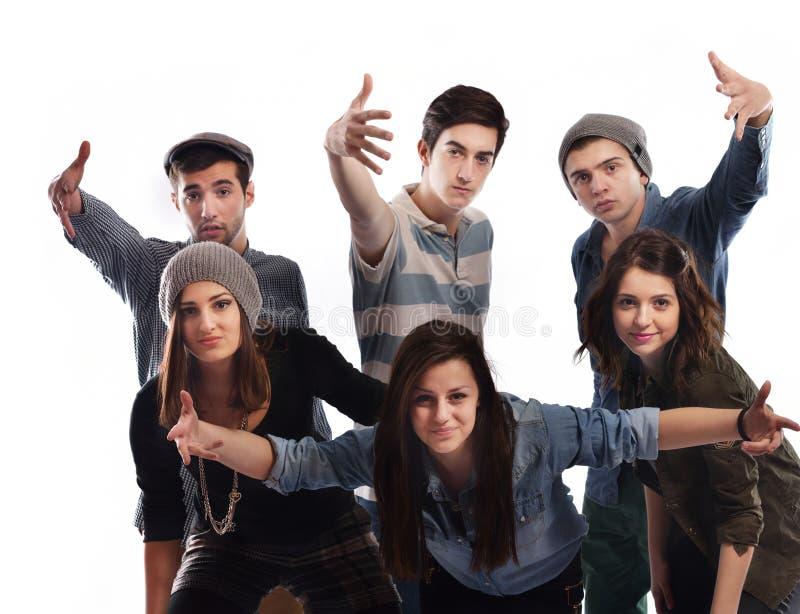 Ευτυχής ομάδα teens στοκ εικόνες