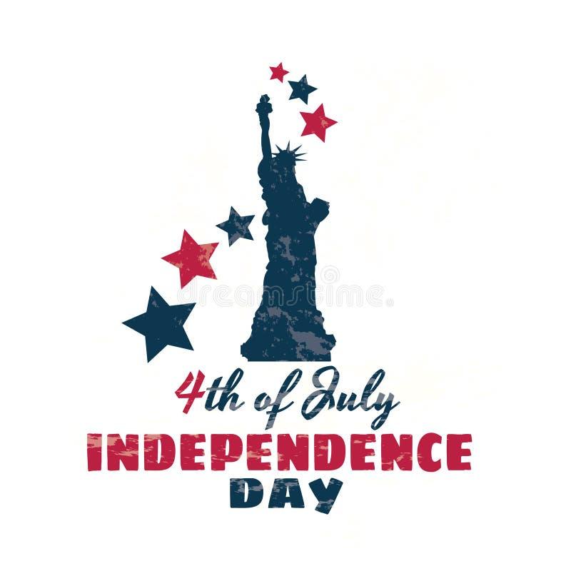 Ευτυχής 4ος της ημέρας της ανεξαρτησίας Ιουλίου ελεύθερη απεικόνιση δικαιώματος