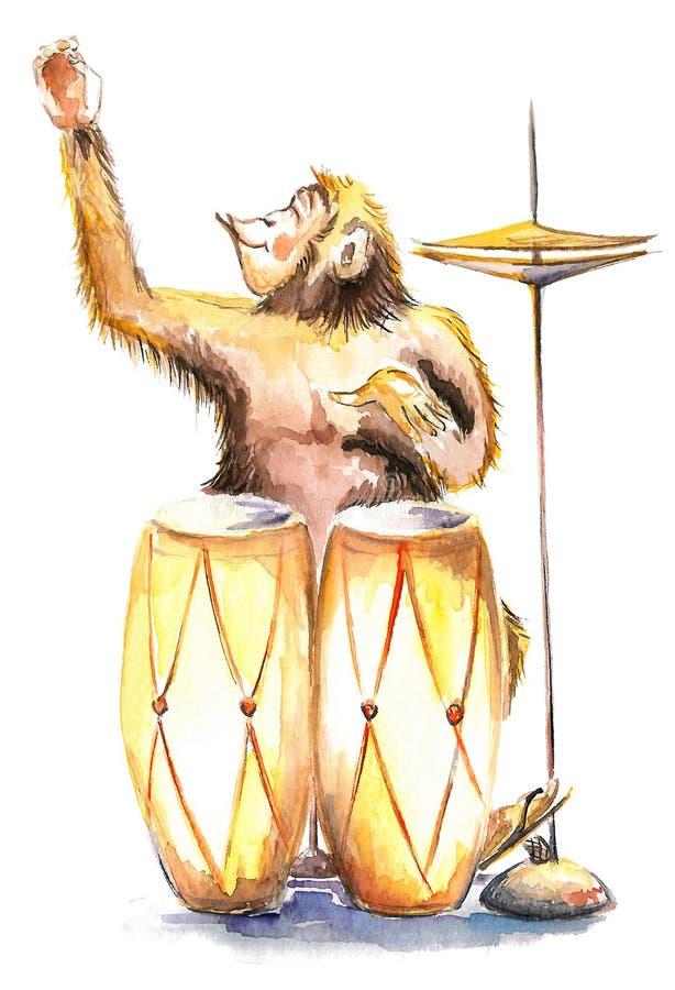 ευτυχής πίθηκος απεικόνιση αποθεμάτων