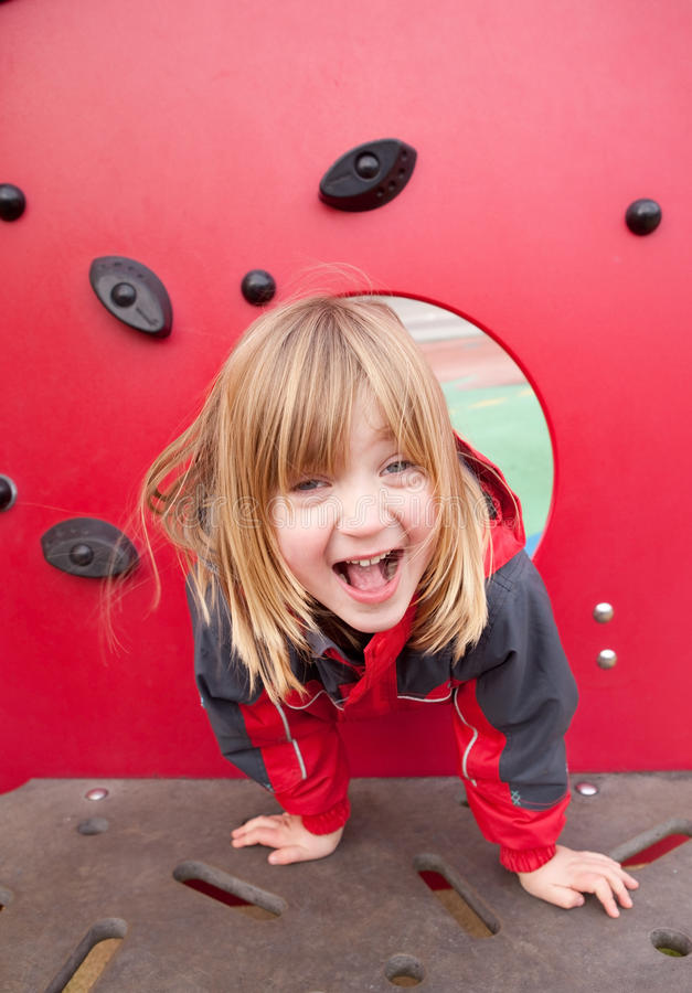 ευτυχής παιδική χαρά παιδ& στοκ εικόνα