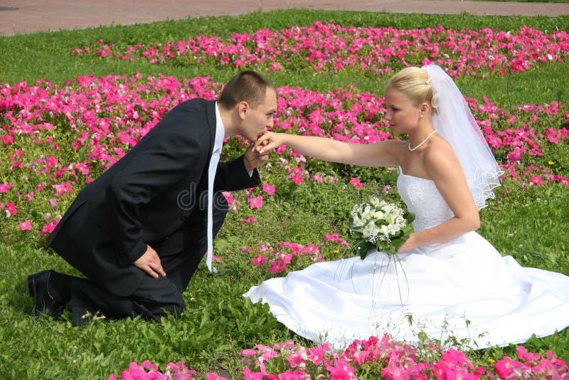 ευτυχής παντρεμένος στοκ εικόνες