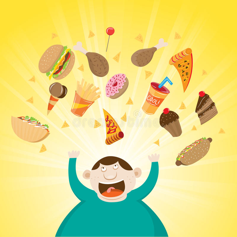 Ευτυχής παχύσαρκος απεικόνιση αποθεμάτων