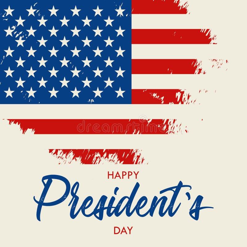 Ευτυχής Προέδρων Day διανυσματική εγγραφή κειμένων απεικόνισης συρμένη χέρι για την ημέρα Προέδρων στις ΗΠΑ script Καλλιγραφικό σ απεικόνιση αποθεμάτων