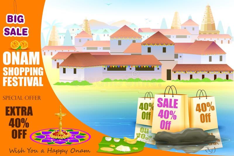 Ευτυχής προσφορά αγορών Onam απεικόνιση αποθεμάτων