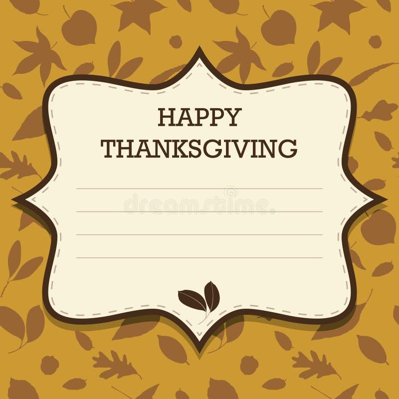 Ευτυχής πρόσκληση ημέρας των ευχαριστιών διανυσματική απεικόνιση