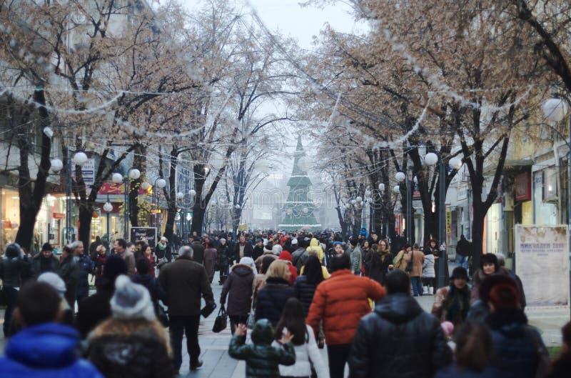 Ευτυχής πόλη Burgas στοκ εικόνα με δικαίωμα ελεύθερης χρήσης